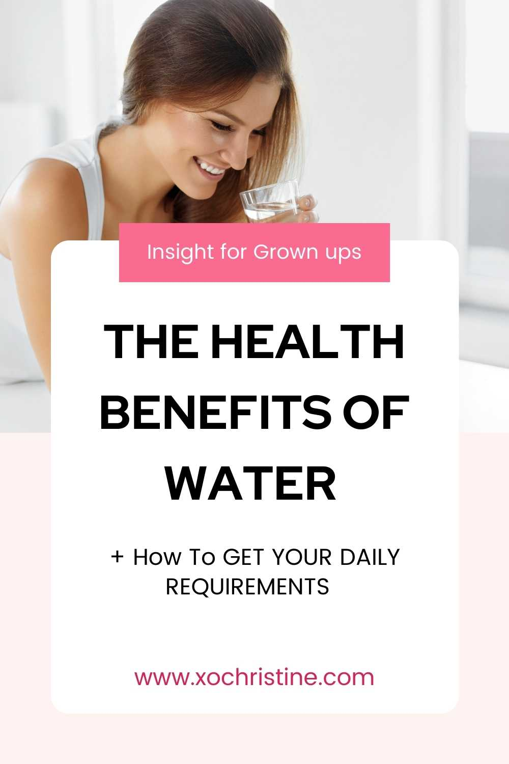 Water! The benefits of drinking enough (and how to do it!)