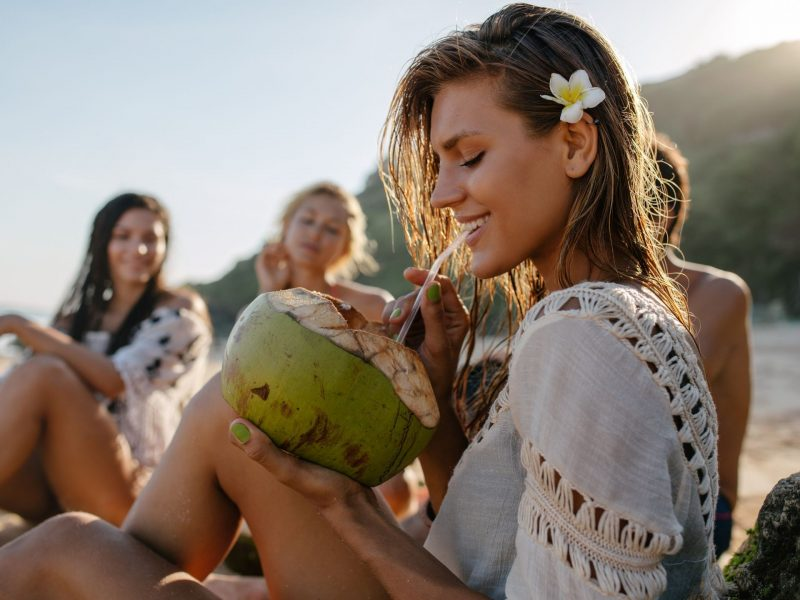 The many  benefits to drinking coconut water