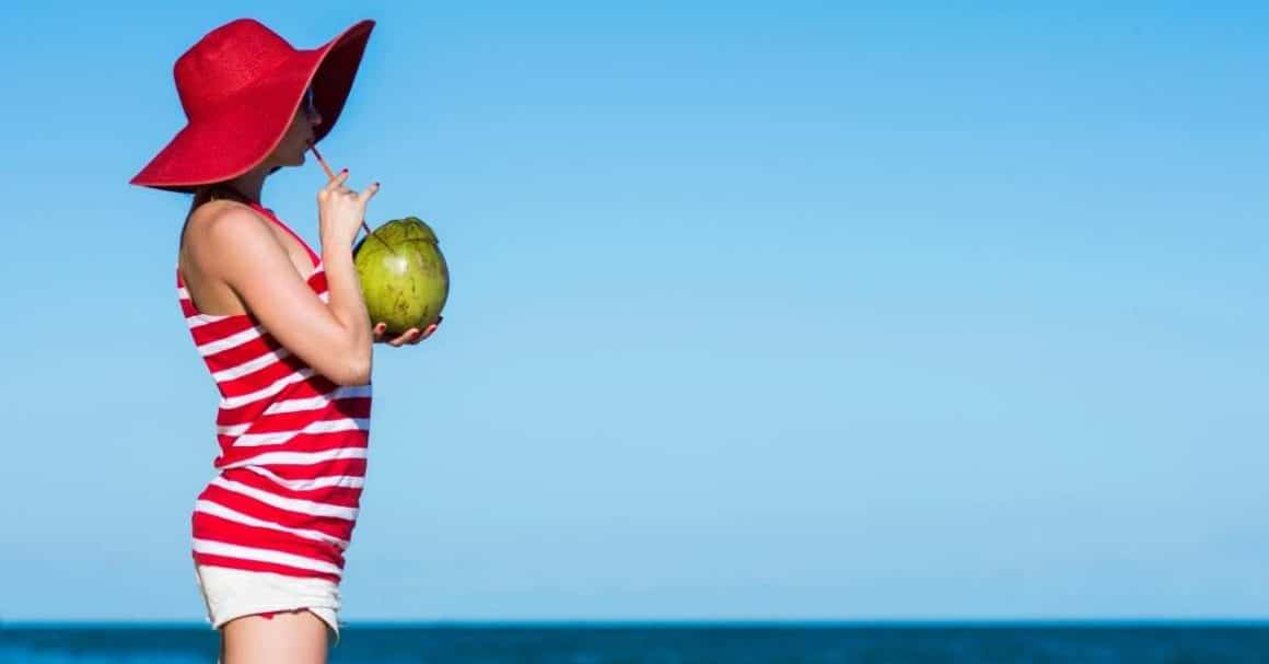 Drinking coconut water can help balance sodium in the body