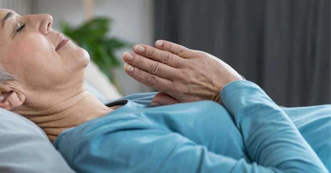 nighttime self-care beauty routine-meditation