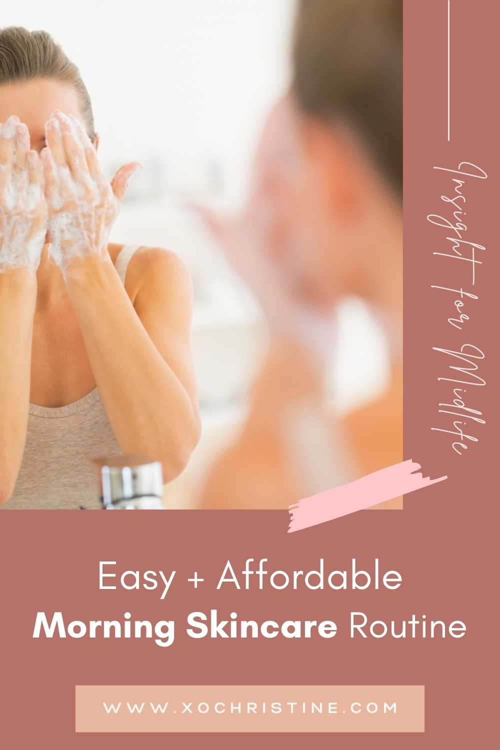 simple morning skincare routine for women 40+