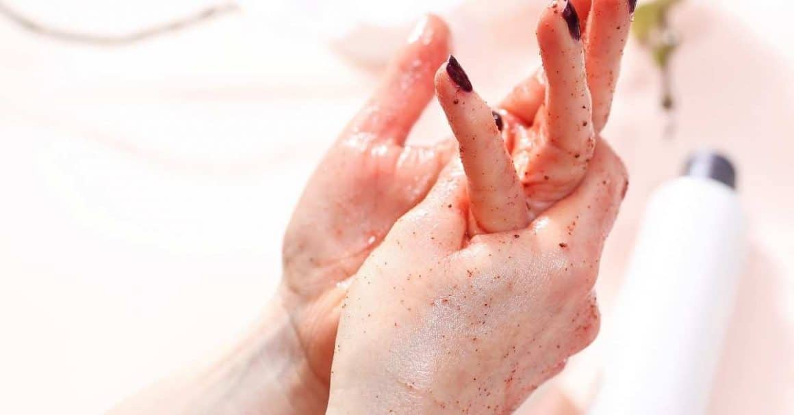 improve the appearance of aging hands with exfoliation