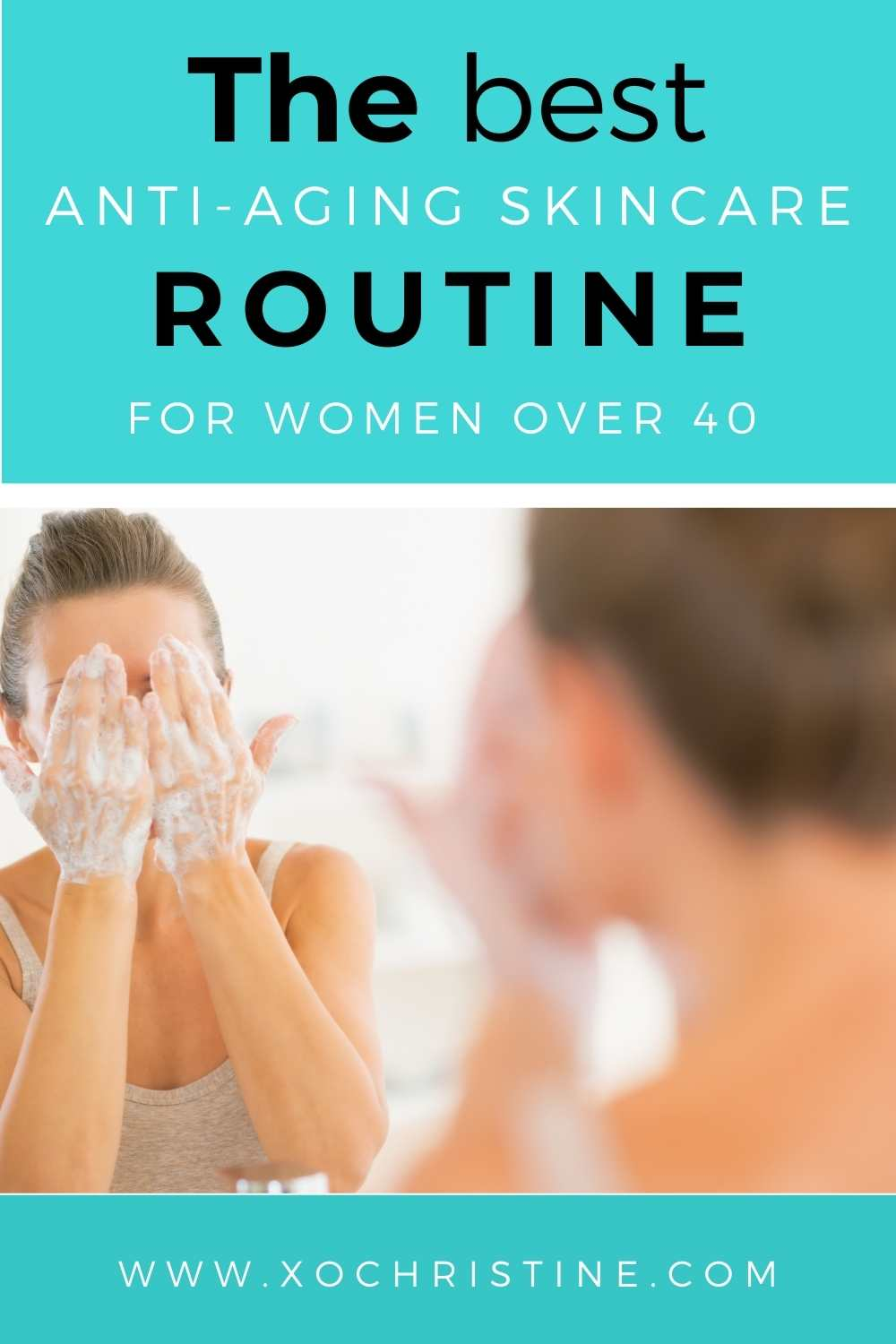 nighttime skincare routine for women over 40