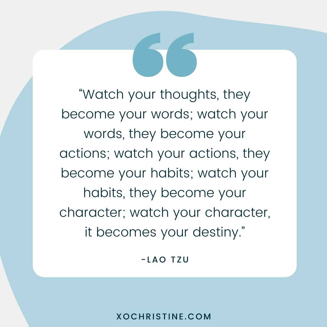 Positive affirmations start the day off right-Lao Tzu quote