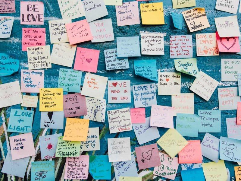 self-love affirmations-affirmation wall